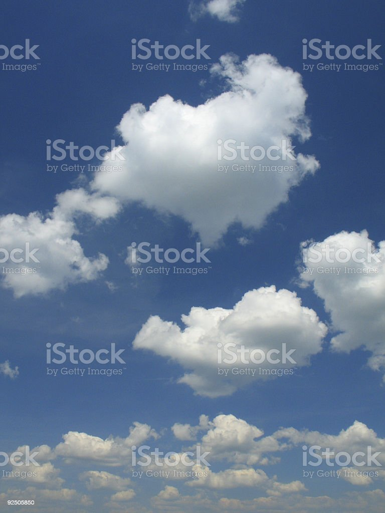 Cloudy sky royalty-free stock photo