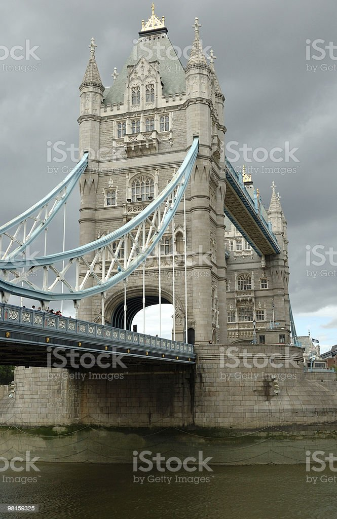 Cloudy sky - Tower Bridge in London royalty-free stock photo