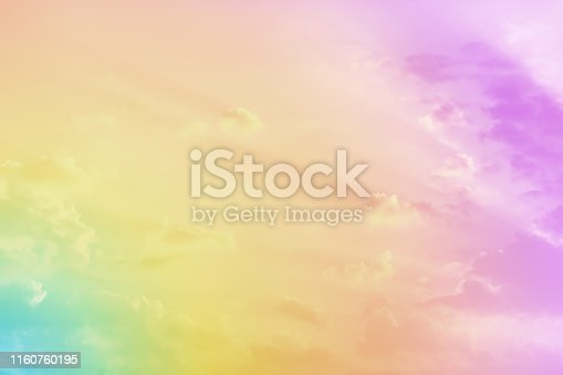 istock Cloudy sky with pastel color for nature and abstract background 1160760195