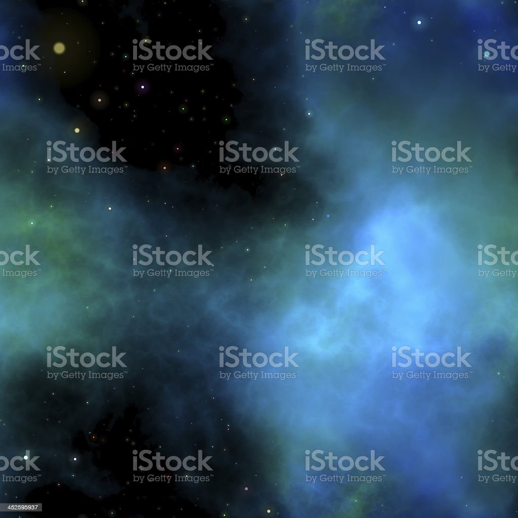 A cloudy star cluster in space background stock photo