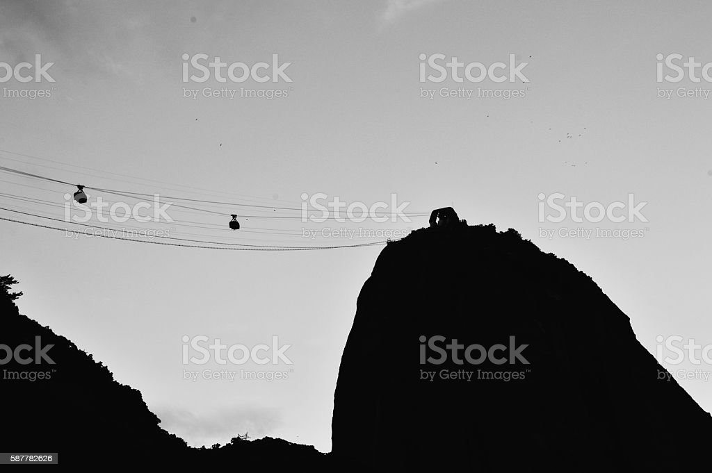 Cloudy Sugar Loaf stock photo