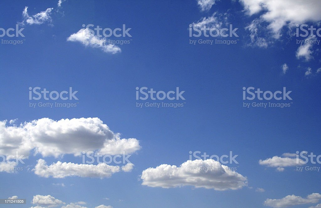 Cloudy Sunny Bright Day With Blue Sky royalty-free stock photo