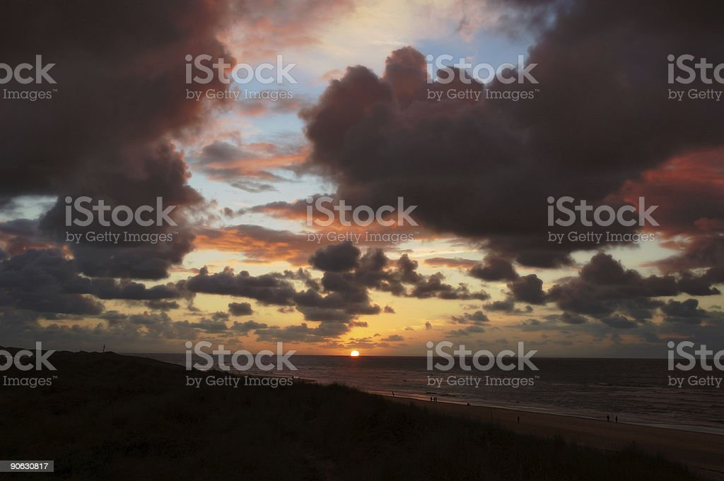 Cloudy sunset 1 royalty-free stock photo