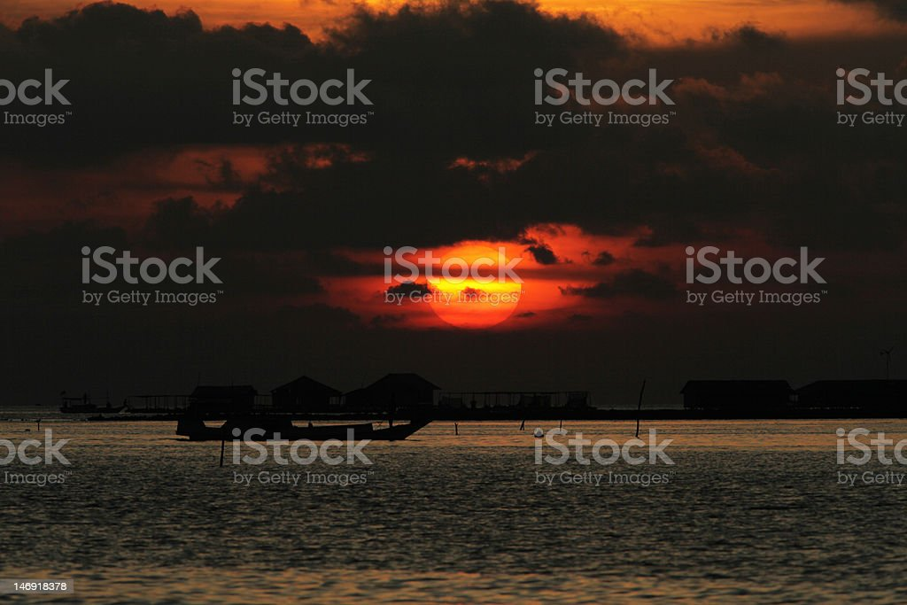 Cloudy Sunset stock photo