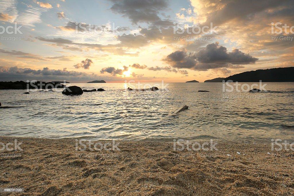 Nublado pôr-do-sol foto royalty-free