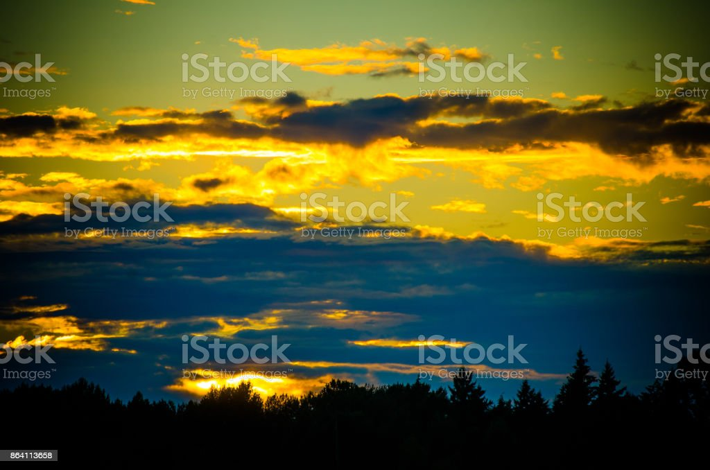 Cloudy sunset royalty-free stock photo