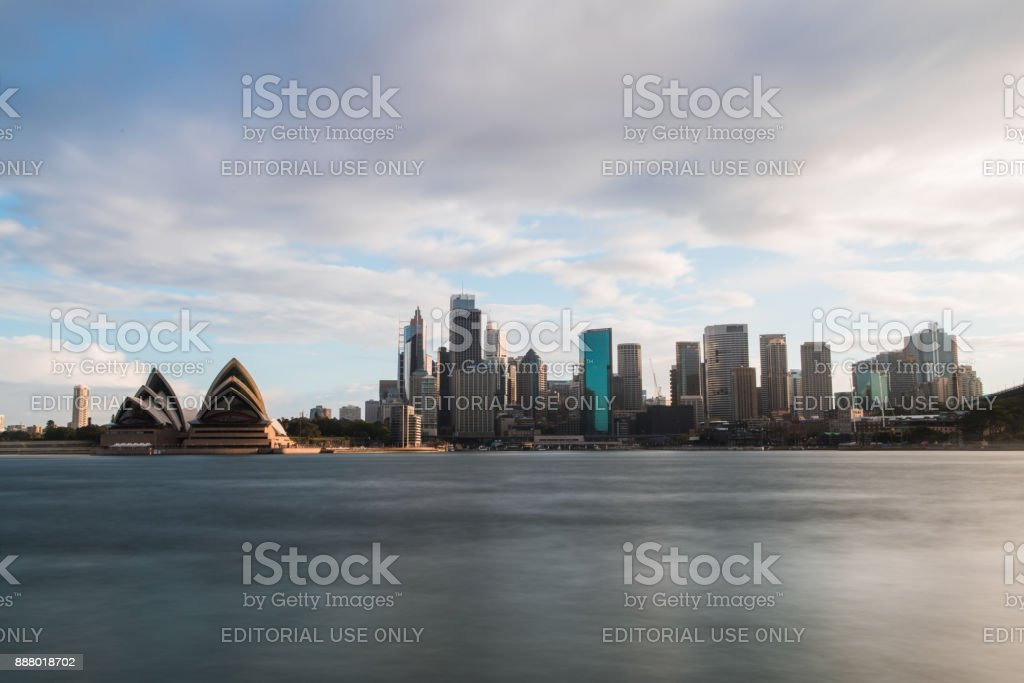 Cloudy Sydney Day stock photo