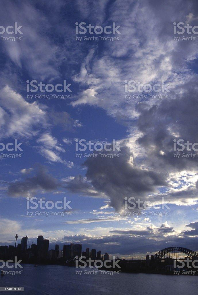 Cloudy Sydney royalty-free stock photo