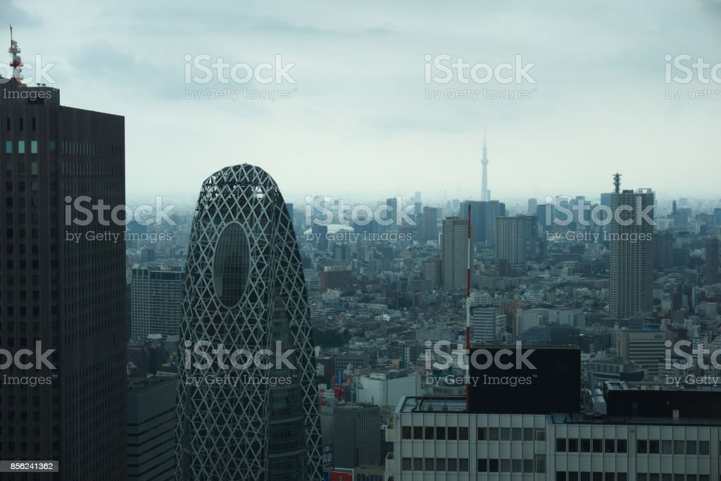 Cloudy Tokyo stock photo