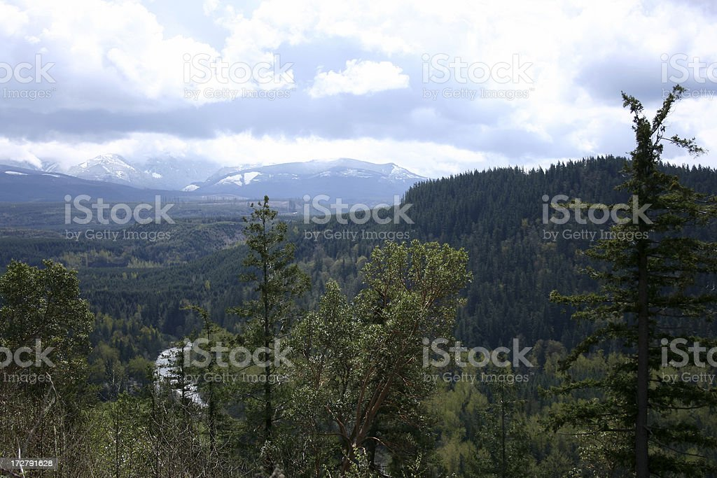 Cloudy Vista from Mt Pete Enumclaw Washington royalty-free stock photo