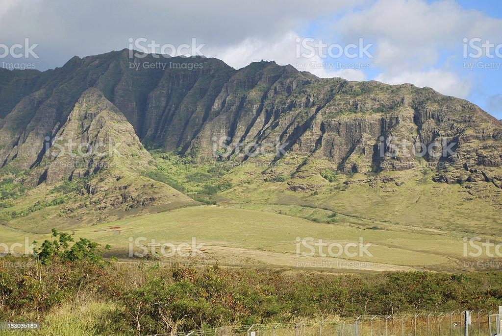Cloudy Waianae Mountain Range, Oahu royalty-free stock photo