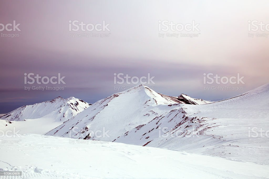 Bewölkt winter Berge, Halbinsel Kamtschatka, Russland – Foto