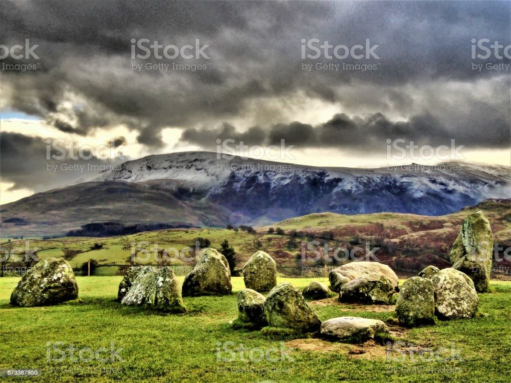 Clough Head In Winter stock photo