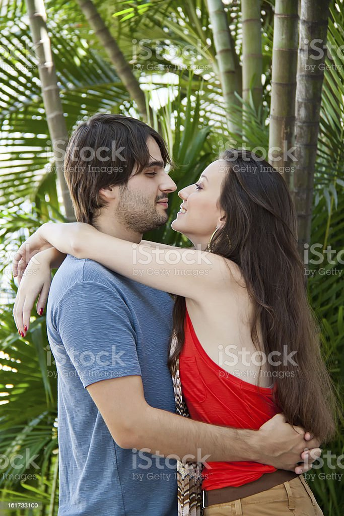 Clouple in a romantic moment royalty-free stock photo
