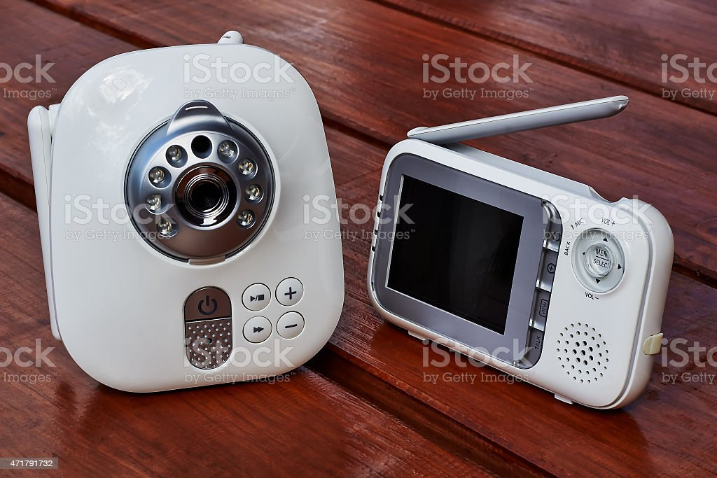 Clouse-up baby monitor stock photo
