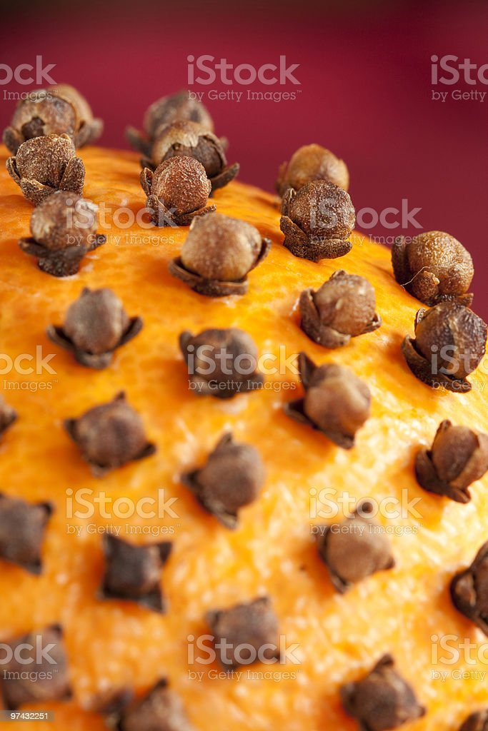 Clove on pomander royalty-free stock photo