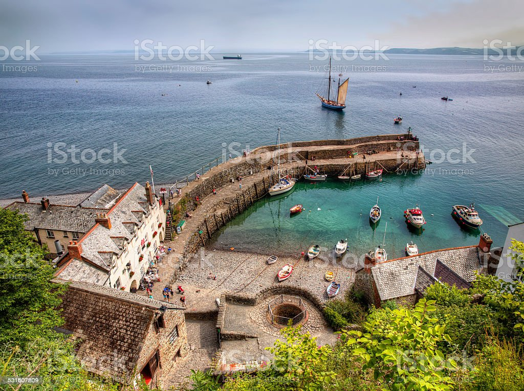 Clovelly stock photo