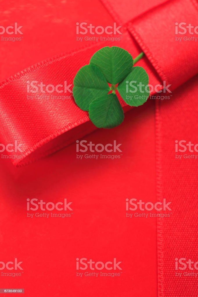 Clover and Ribbon royalty-free stock photo