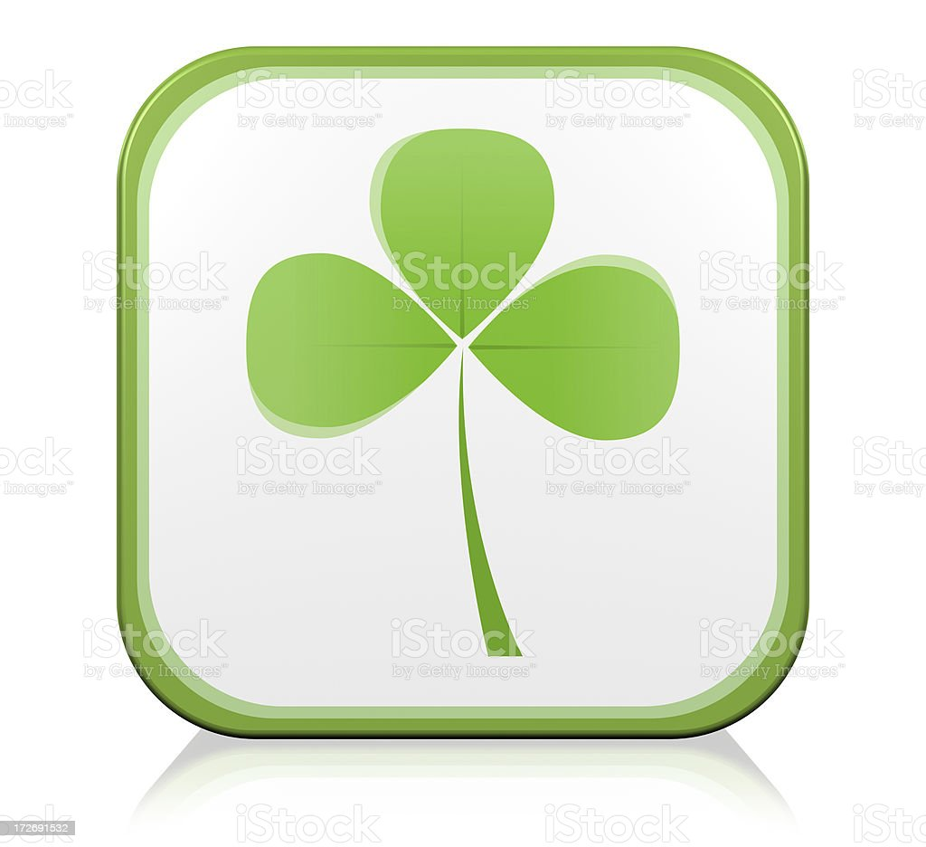 Clover, Nature Leaf of Luck Icon royalty-free stock photo