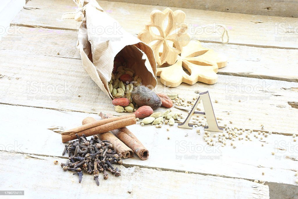 Cloves with cinnamom royalty-free stock photo