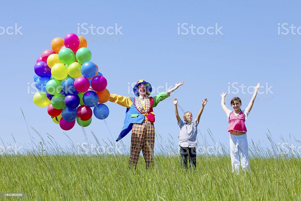 Clown und Kind – Foto