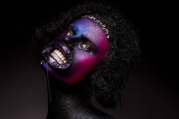 clown and halloween theme. - horror zirkus stock-fotos und bilder