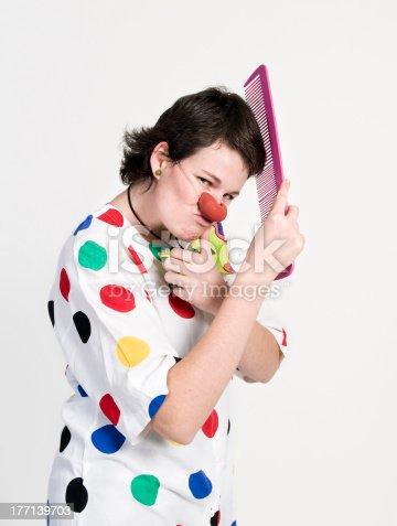 istock Clown at studio 177139703
