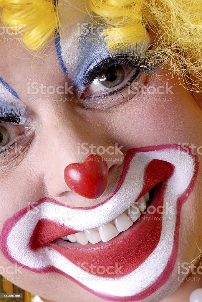 Clown Close-Up royalty-free stock photo