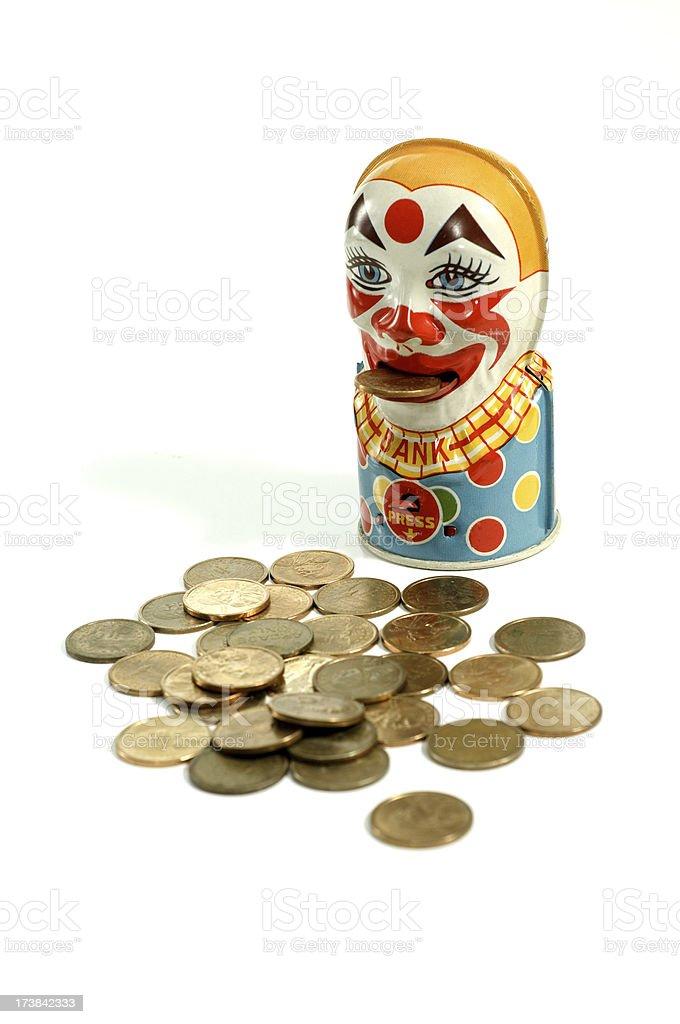 Clown Coin Bank stock photo