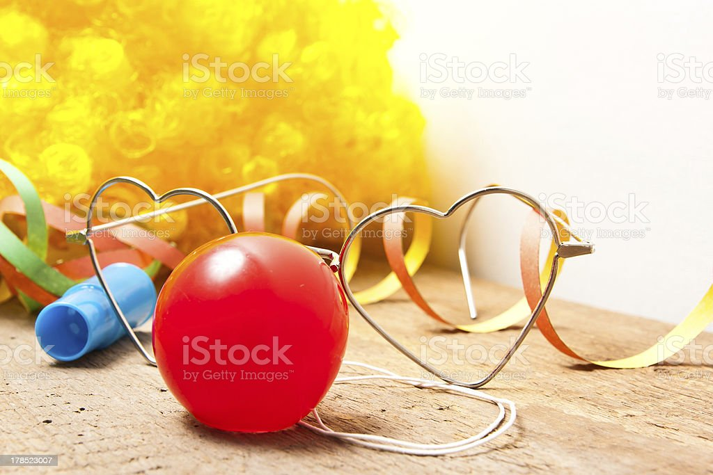 clown costume stock photo