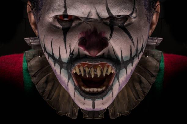 clown gesicht - horror zirkus stock-fotos und bilder