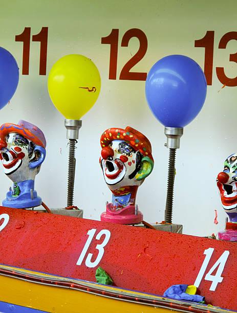Clown game at Coney Island stok fotoğrafı