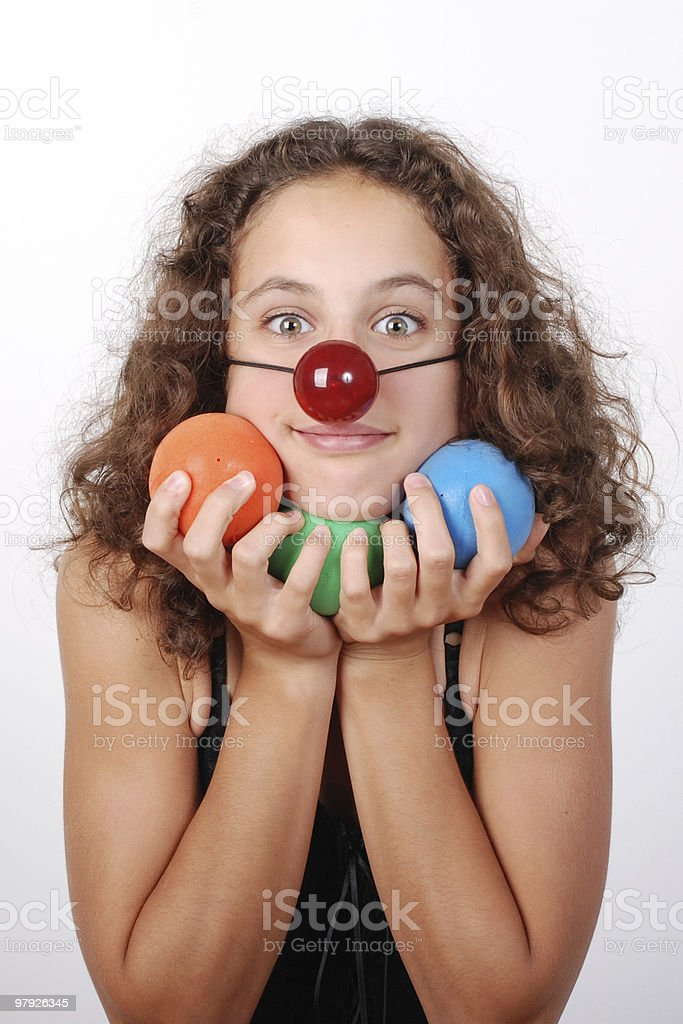 Clown girl 2 royalty-free stock photo