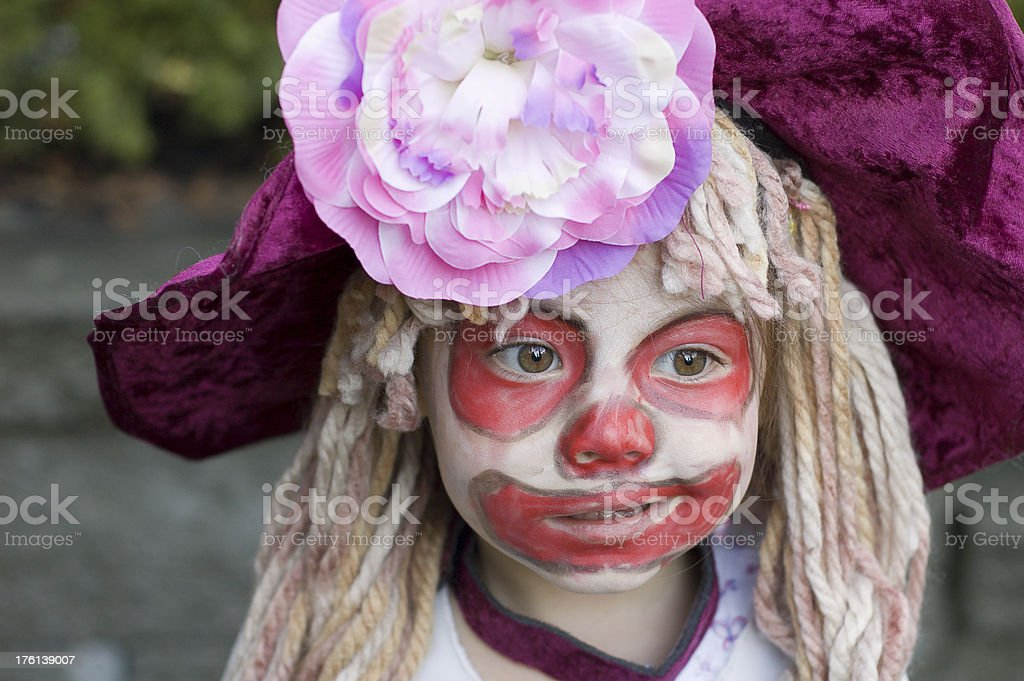 Clown Girl royalty-free stock photo