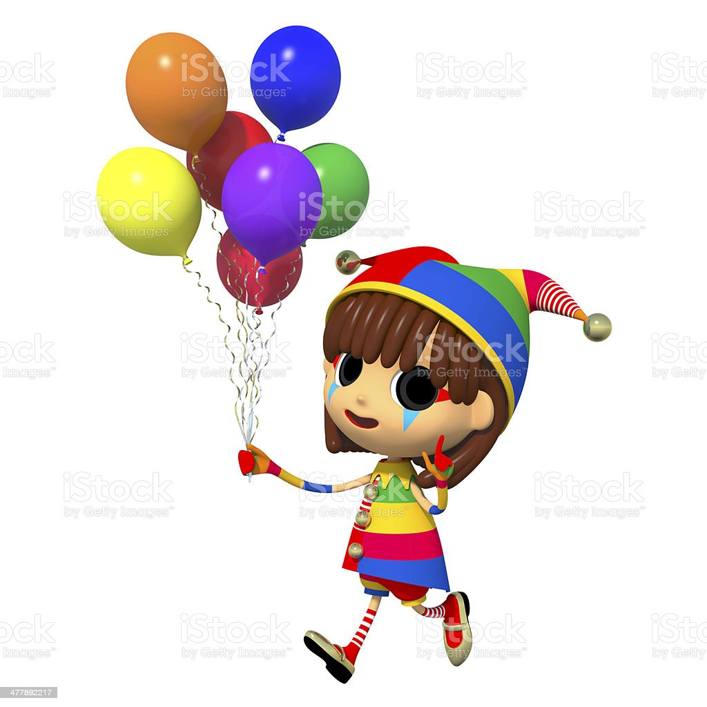 Clown has a lot of balloons. royalty-free stock photo