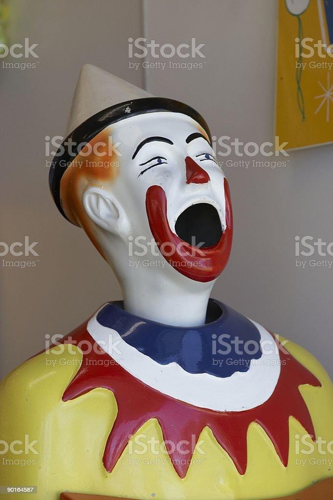 Clown Head Game at the Fair
