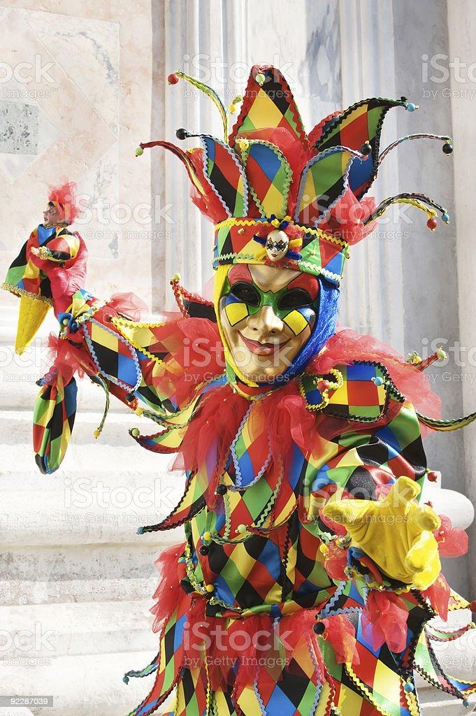 Clown in beautiful colors stock photo