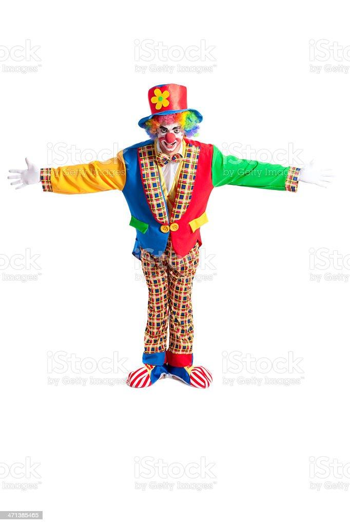 Clown auf weißem Hintergrund – Foto
