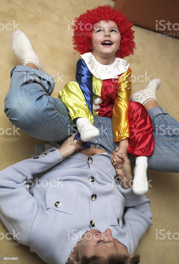 Clown photo libre de droits
