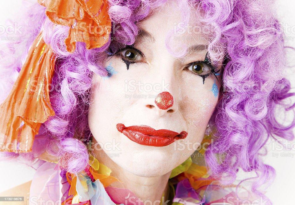 Clown portrai royalty-free stock photo