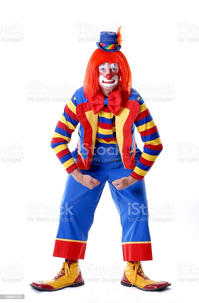 Clown Posing 01 royalty-free stock photo