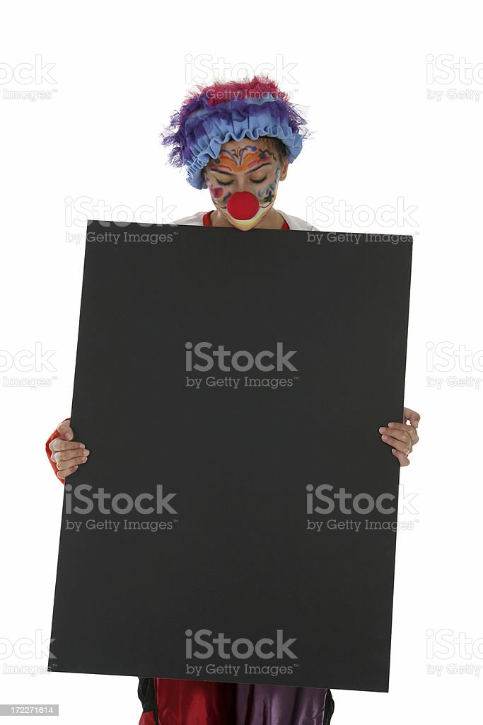 Clown Protest - Space For Writing royalty-free stock photo