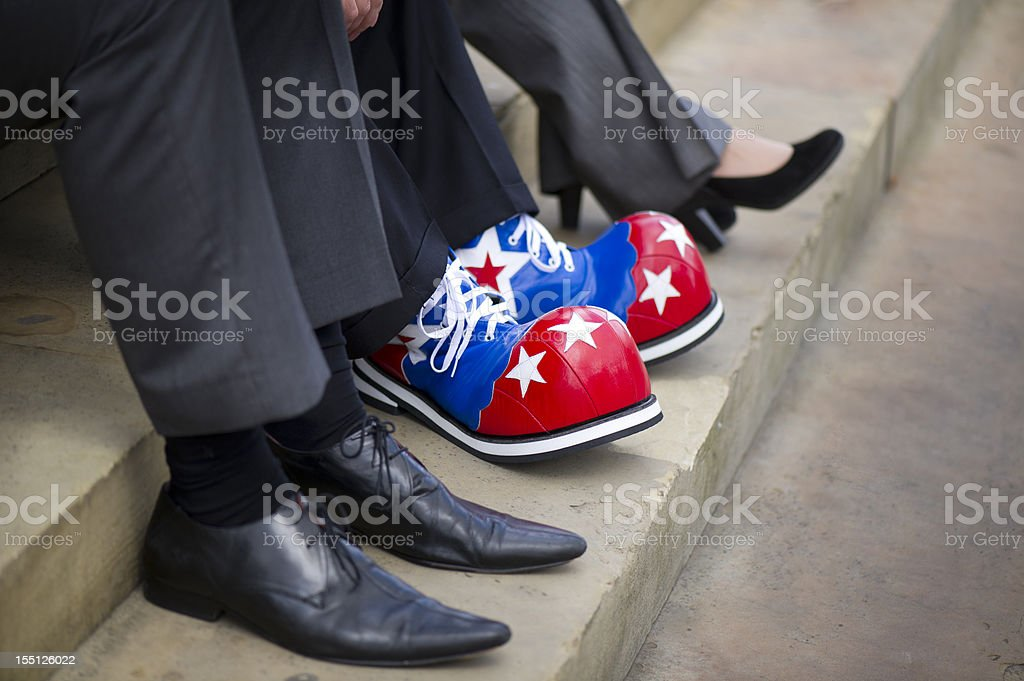 clown shoes stock photo