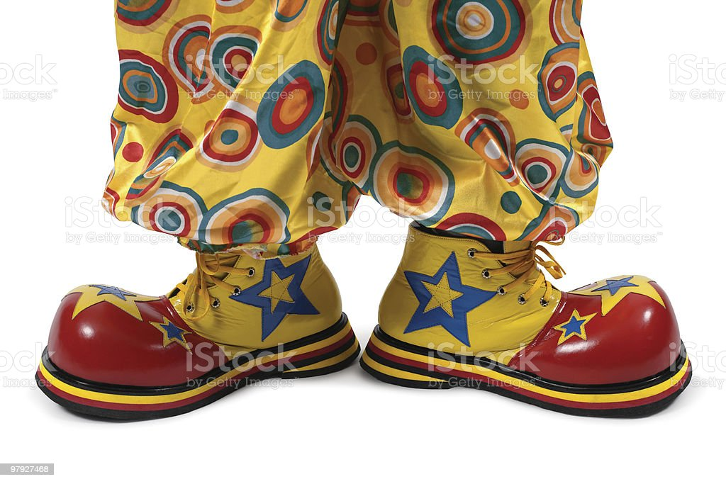 Clown shoes royalty-free stock photo