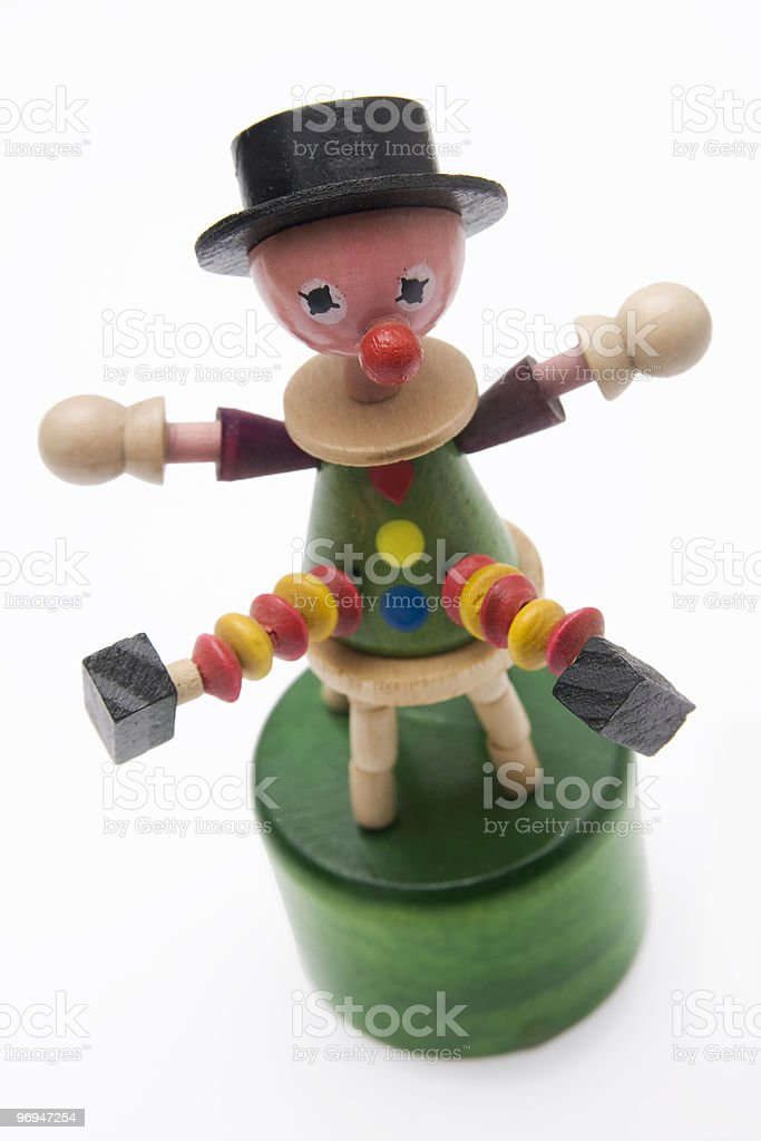 Clown Thumb Puppet royalty-free stock photo