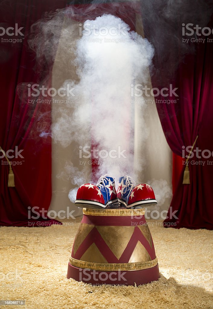 clown vanishes stock photo