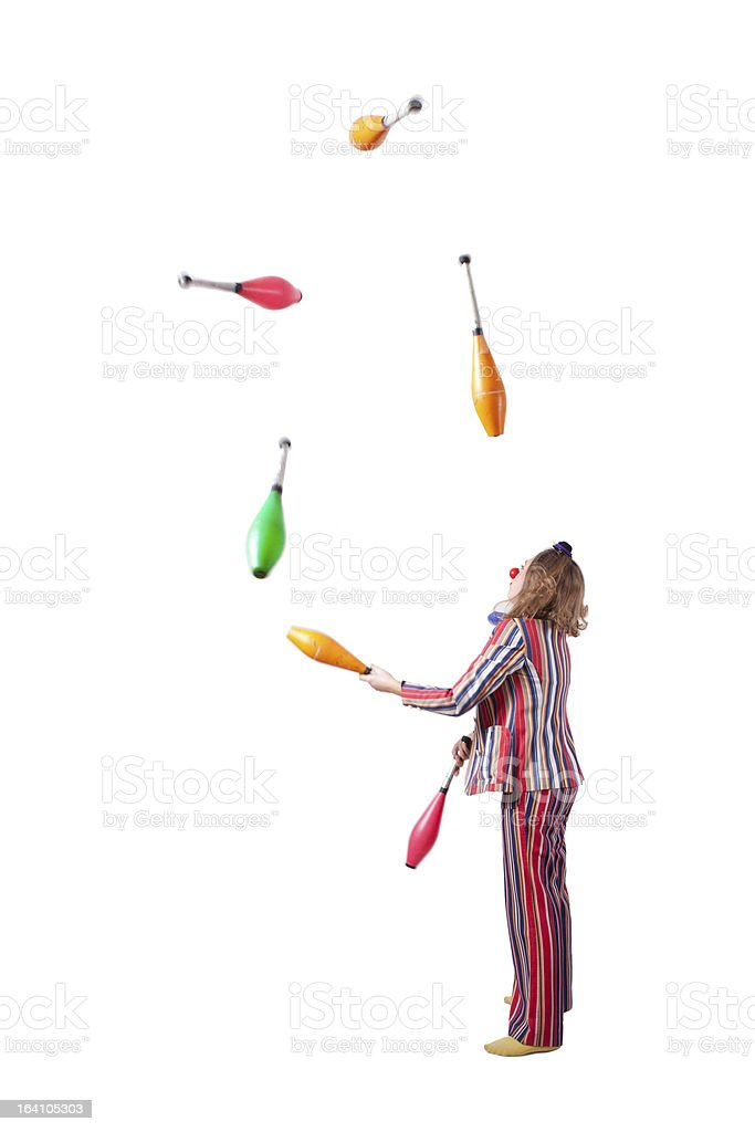 clown with skittles stock photo