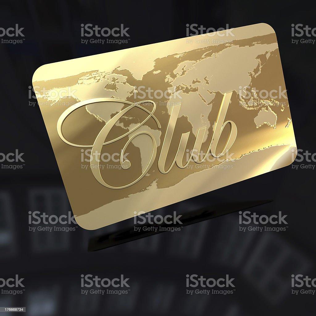 Club card royalty-free stock photo