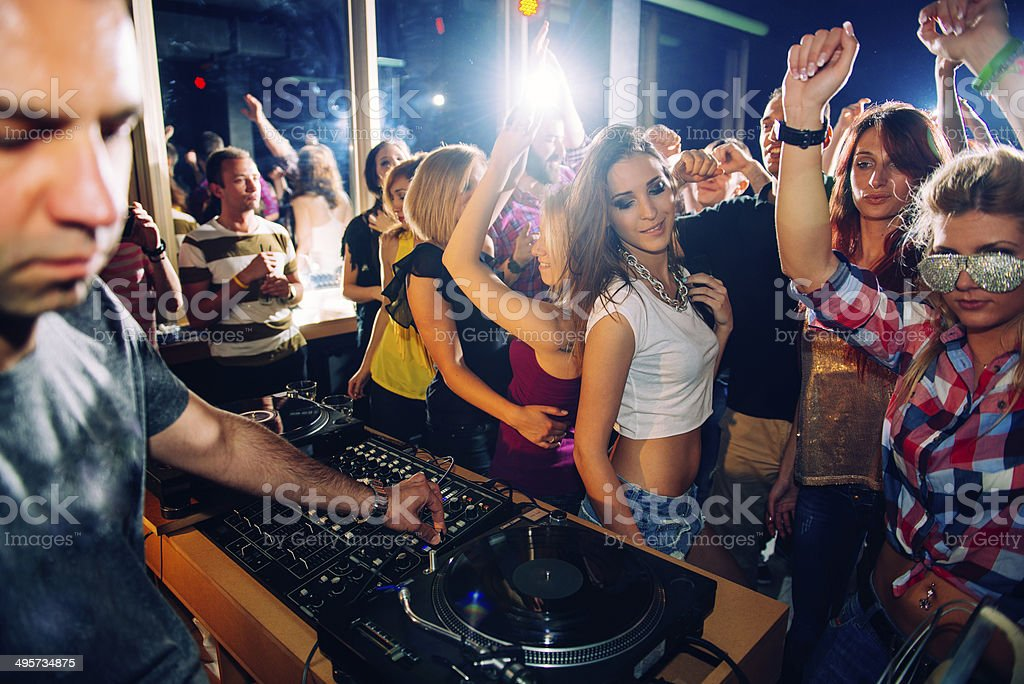 Club dancing stock photo