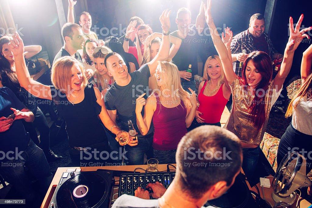Club dancing stock photo